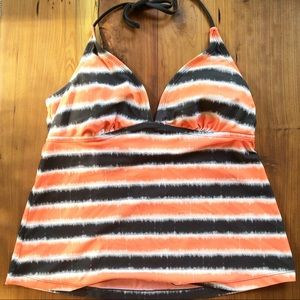 Converse orange & black tankini top